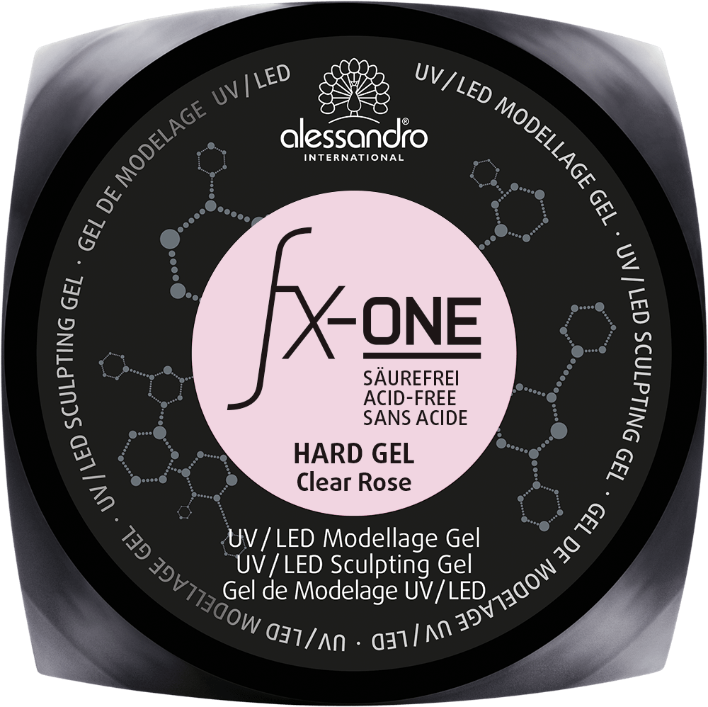FX ONE Hard Gel Clear Rose 100g