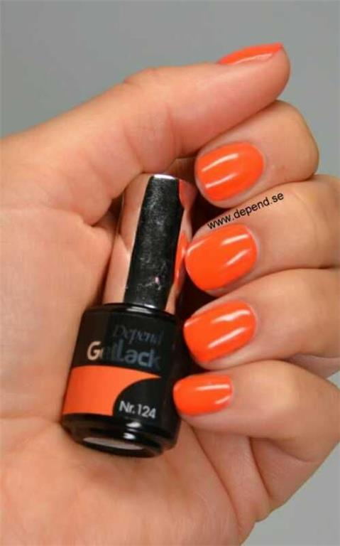 Depend Gellack 124 Orange Twist